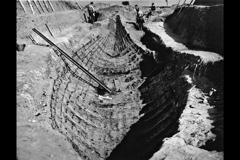 The Sutton Hoo ship excavation 1939
